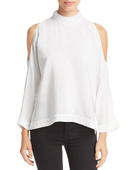 f0a63a659896e2 Go by Go Silk - Cold-Shoulder Top ...