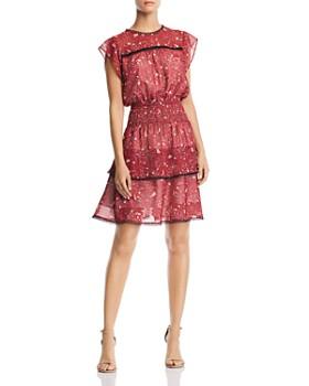 Aqua Tiered Fl Print Dress 100 Exclusive