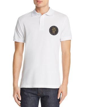 Versace Jeans Logo Patch Pique Polo Shirt