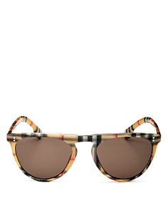 Burberry - Vintage Check Flat Top Sunglasses, 54mm