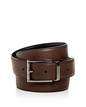 Bally Men\\\'s Astor Embossed Leather Reversible Belt-Men