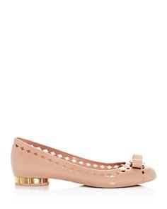 Salvatore Ferragamo - Women's Vara Floral Heel Flats