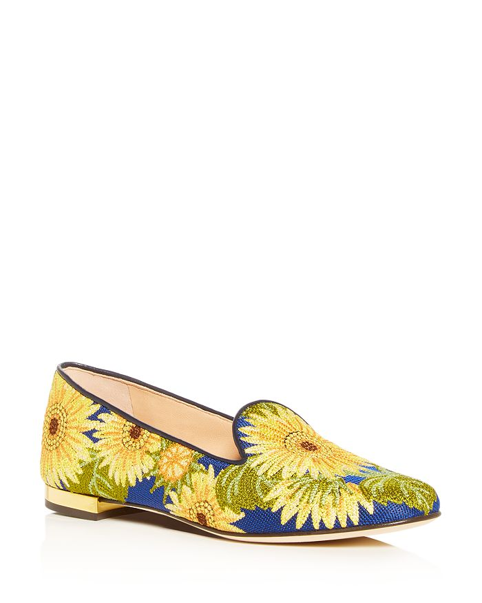 c32053e6f Charlotte Olympia Women's Floral-Embroidered Smoking Slippers ...