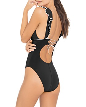 Robin Piccone - Malia Ruffle-Detail One Piece Swimsuit