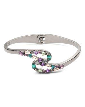 Carolee Encrusted Multicolor Hinged Bangle Bracelet