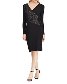Ralph Lauren - Sequined-Panel Jersey Dress