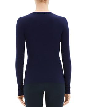 Theory - Embroidered Trim Sweater
