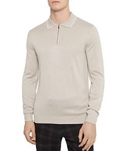 REISS - Goldmire Slim Fit Half-Zip Polo Sweater