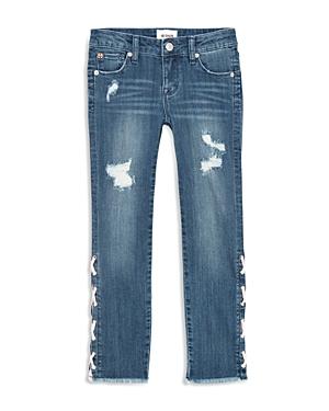 Hudson Girls Etta LaceUp Skinny Ankle Jeans  Big Kid
