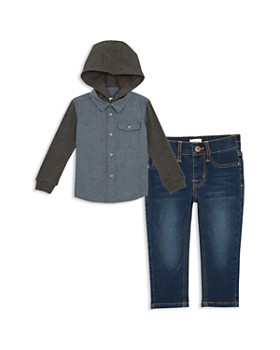 d98b24abd1b2 Hudson - Boys  Hoodie Shirt   Jeans Set - Little Kid ...