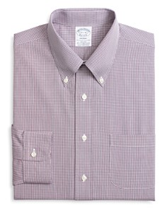 Brooks Brothers - Micro-Checked Classic Fit Dress Shirt