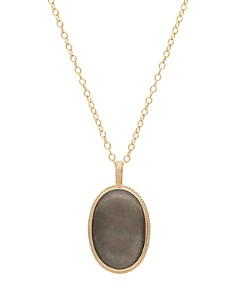 Anna Beck - Pyrite Pendant Necklace in 18K Gold-Plated Sterling Silver, 30""