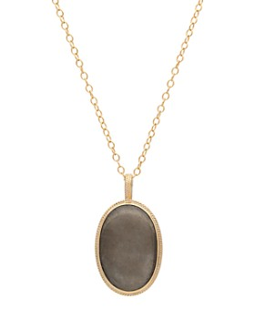 """Anna Beck - Pyrite Pendant Necklace in 18K Gold-Plated Sterling Silver, 30"""""""