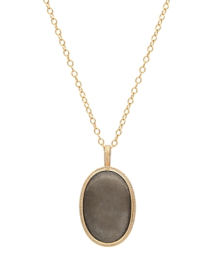 Anna Beck Pyrite Pendant Necklace in 18K Gold-Plated Sterling Silver, 30