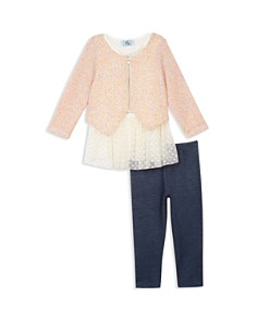 Pippa & Julie - Girls' Sweater, Tutu Tunic & Leggings Set - Little Kid