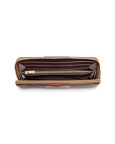 COACH - Signature Slim Accordion Zip Wallet