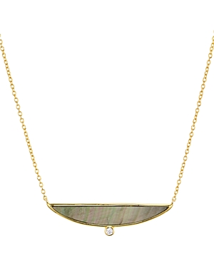 Argento Vivo Mother-of-Pearl Pendant Necklace in 14K Gold-Plated Sterling Silver, 14
