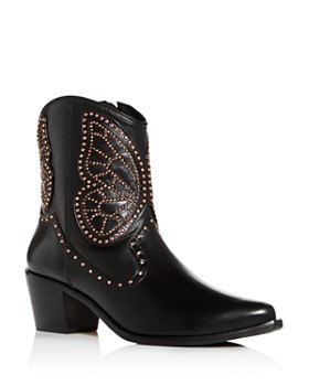 Sophia Webster - Women's Shelby Studded Western Pointed-Toe Boots