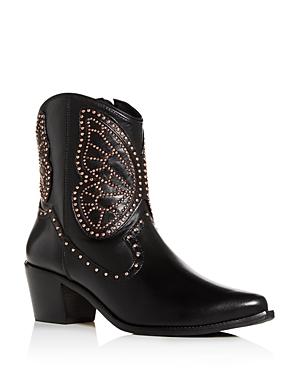 Sophia Webster Women's Shelby Studded Western Mid-Heel Boots