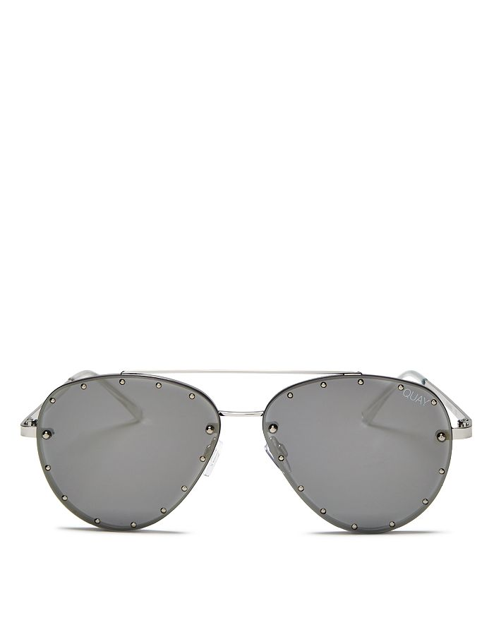 8b13f00620c6a Quay Women s Quay x Jaclyn Hill Roxanne Studded Aviator Sunglasses ...