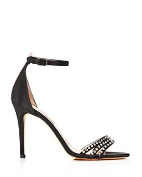 3aa06a36042 ... SJP by Sarah Jessica Parker - Women s Darcy Embellished Satin High Heel  Sandals