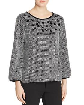 KARL LAGERFELD Paris - Embellished Bishop Sleeve Sweater
