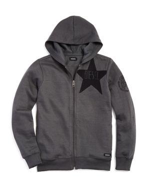 Diesel Boys' Fleece Star Logo Hoodie - Big Kid