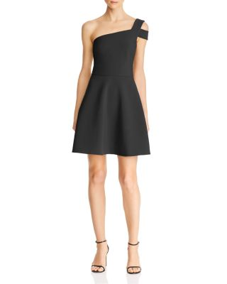 Montgomery One Shoulder A Line Mini Dress by Likely