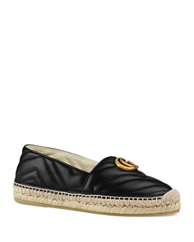 Gucci - Women's Pilar Double G Leather Espadrilles
