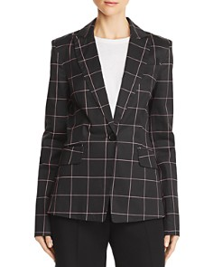 MILLY - Checked Tailored Blazer