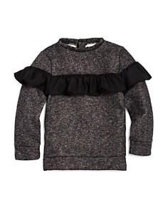 Mini Series - Girls' Ruffled Shimmer Sweatshirt, Little Kid - 100% Exclusive