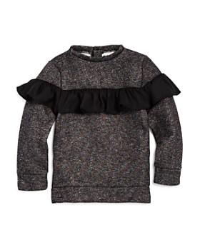 14a87dad48 Mini Series - Girls  Ruffled Shimmer Sweatshirt