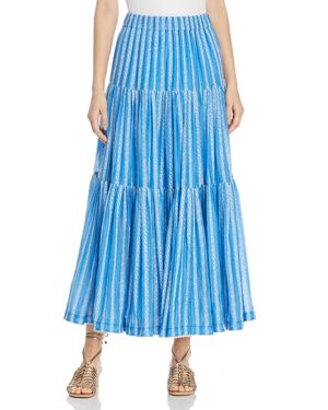 Tory Burch Embroidered Organza Maxi Skirt