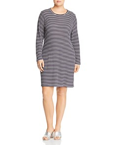 MICHAEL Michael Kors Plus - Striped Ribbed Knit Dress