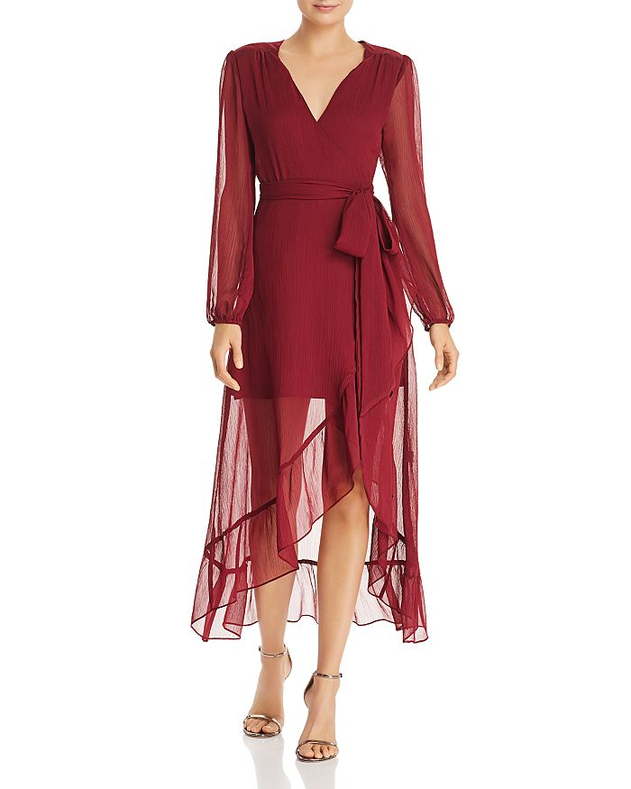 WAYF - Only You Ruffled Wrap Dress - 100% Exclusive