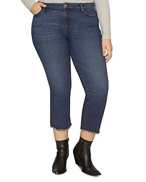 Sanctuary Curve Modern Standard Cropped Straight-Leg Jeans in Elysian Blue