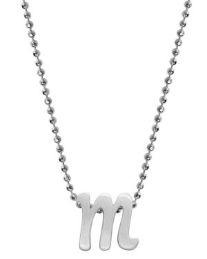 ALEX WOO Little Autograph Initial Pendant Necklace In Sterling Silver, 16 in Silver/M