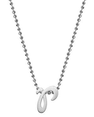 ALEX WOO Little Autograph Initial Pendant Necklace In Sterling Silver, 16 in Silver/R