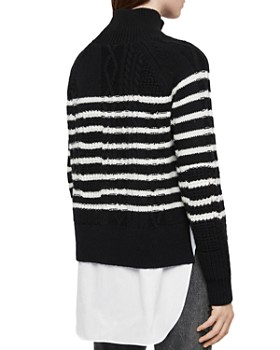 ALLSAINTS - Mari Striped Layered-Look Sweater