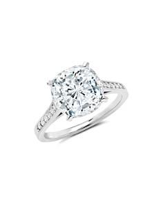 Crislu - Cushion-Cut Ring in 18K Gold-Plated Sterling Silver, 18K Rose Gold-Plated Sterling Silver or Platinum-Plated Sterling Silver