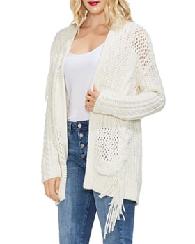 Schutz Heels Bloomingdale s Source · VINCE CAMUTO Mixed Knit Long Open Cardigan