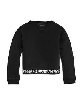Armani Junior - Girls' Fleece Logo Tape Sweatshirt - Little Kid, Big Kid