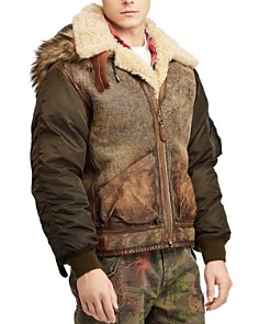 Polo Ralph Lauren - Great Outdoors Shearling-Trimmed Mixed-Media Bomber Jacket