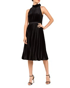 Ted Baker - Cornela Pleated Velvet Dress