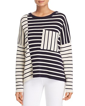 292db53dc81b63 Weekend Max Mara - Mario Striped Color-Block Sweater ...