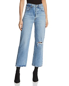Ripped Jeans Distressed Jeans For Women Bloomingdale S