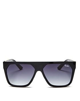 Quay - Women's Quay x Jaclyn Hill Very Busy Shield Sunglasses, 45 mm