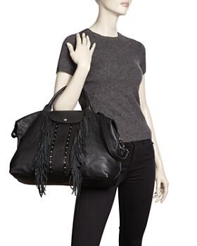 Longchamp - Le Pliage Cuir Rock Large Leather Satchel