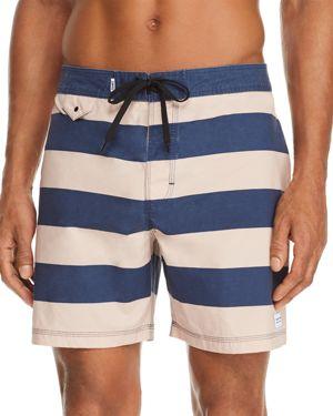 BANKS San Diego Striped Board Shorts in Insignia Blue