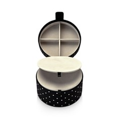 kate spade new york - Black Dot Travel Jewelry Organizer Box